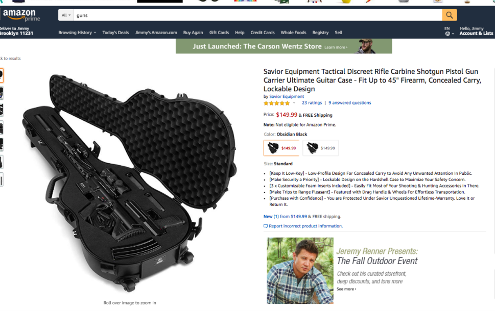 Amazon gun case
