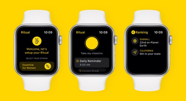 Ritual's new Apple Watch app.