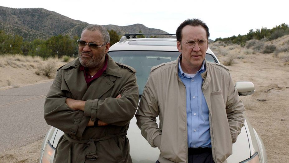 Nicolas Cage and Laurence Fishburne in Running with the Devil.