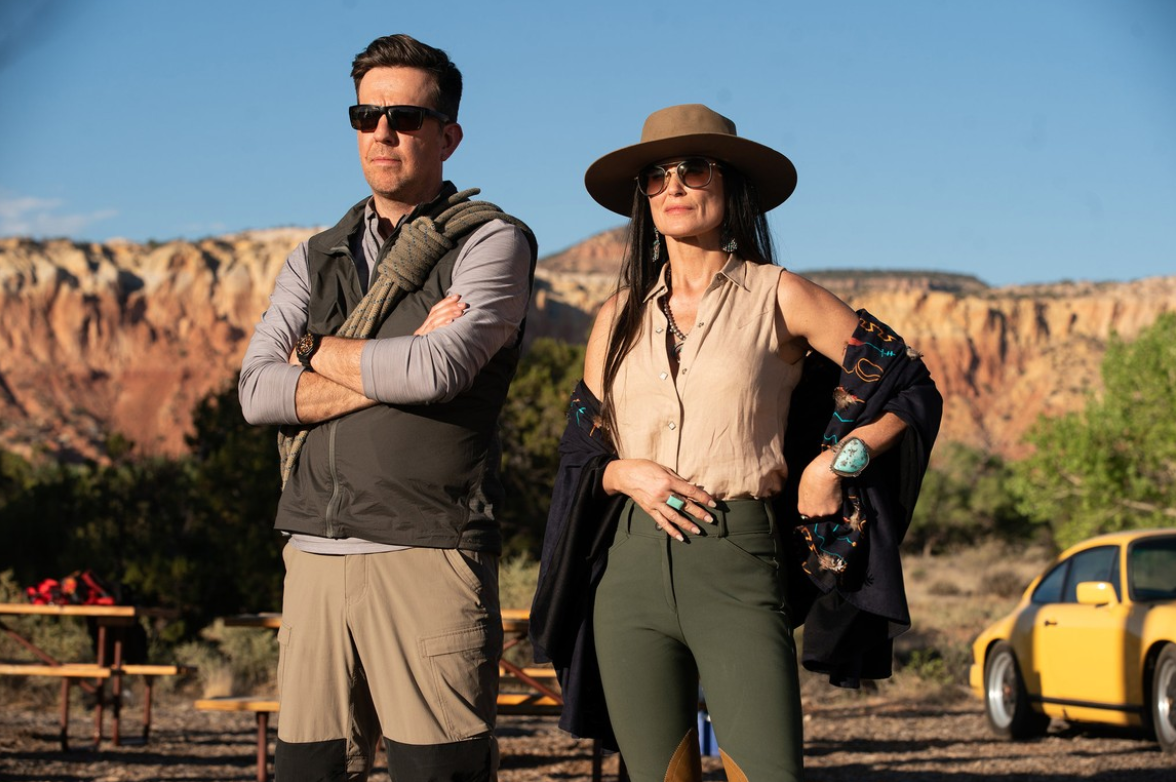 Demi Moore and Ed Helms in Corporate Animals.