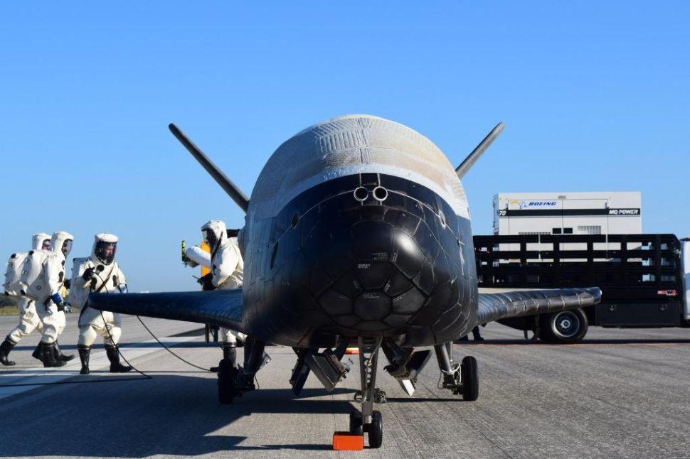 The U.S. Air Force's X-37B Orbital Test Vehicle.