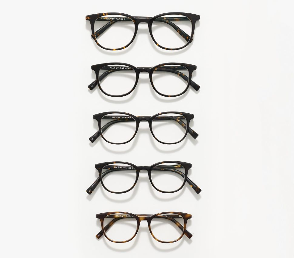 Warby Parker extended sizes collection will include five sizes per style.