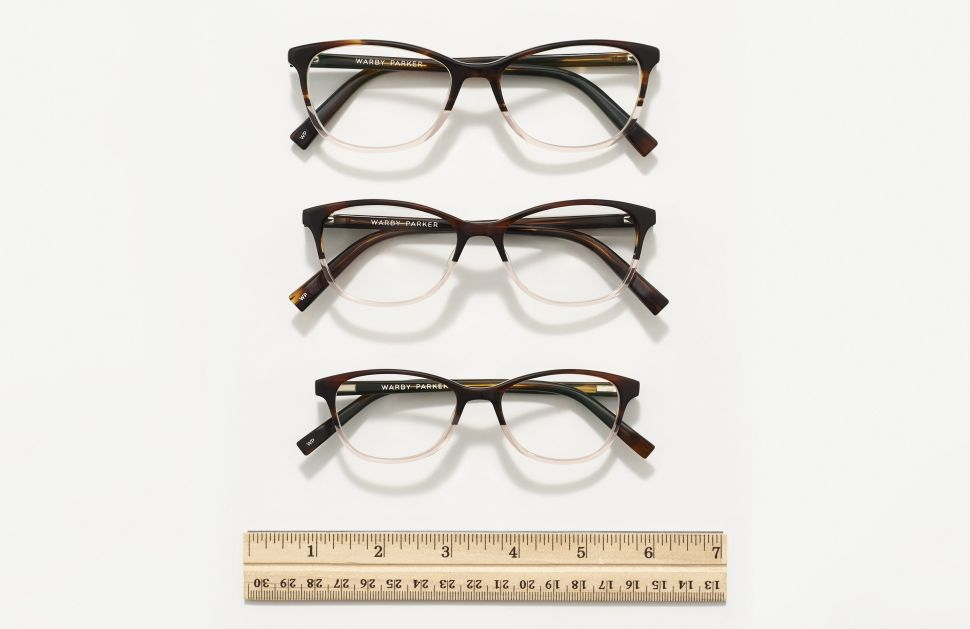 Warby Parker's new Daisy size range.