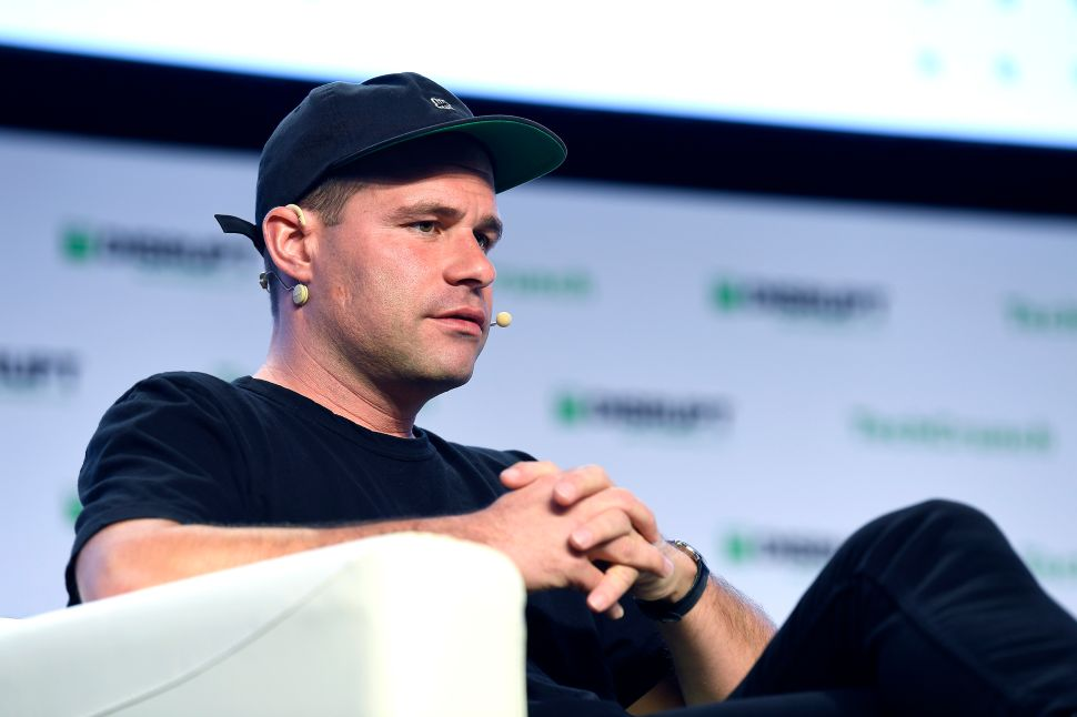 Postmates co-founder and CEO Bastian Lehmann speaks onstage during TechCrunch Disrupt San Francisco 2019.