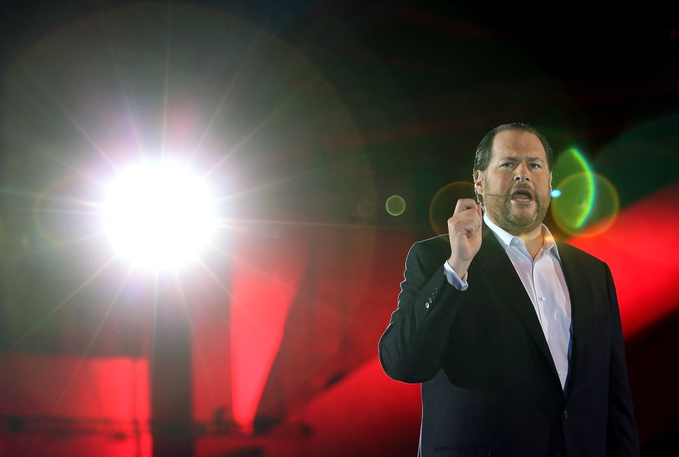 Salesforce chairman and CEO Marc Benioff.
