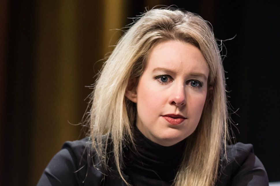 Elizabeth Holmes, founder and former CEO of debunked blood testing startup Theranos.