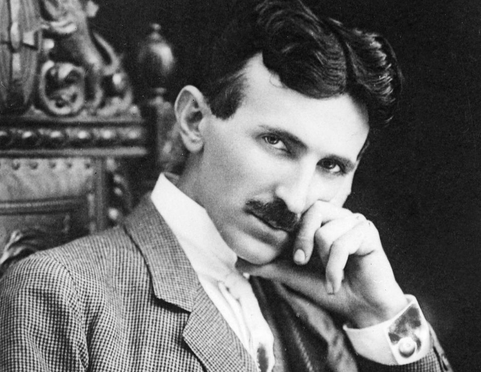 Serbian-American inventor, engineer and futurist Nikola Tesla (1856 - 1943) aged 40, circa 1896.