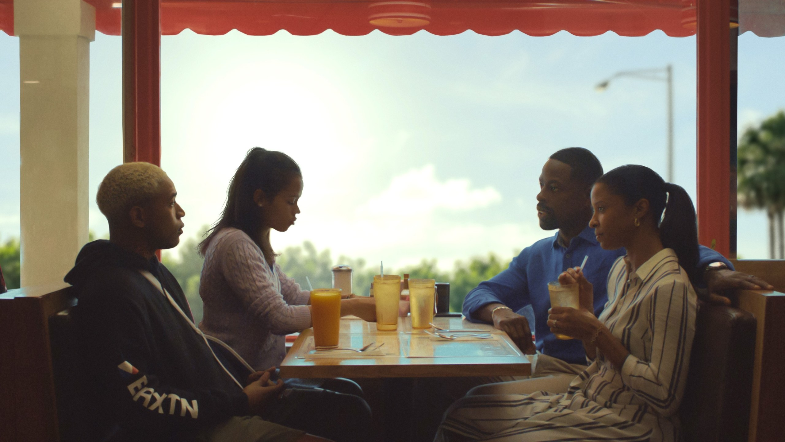 Kelvin Harrison Jr., Taylor Russell, Sterling K. Brown and Renée Elise Goldsberry in Waves.