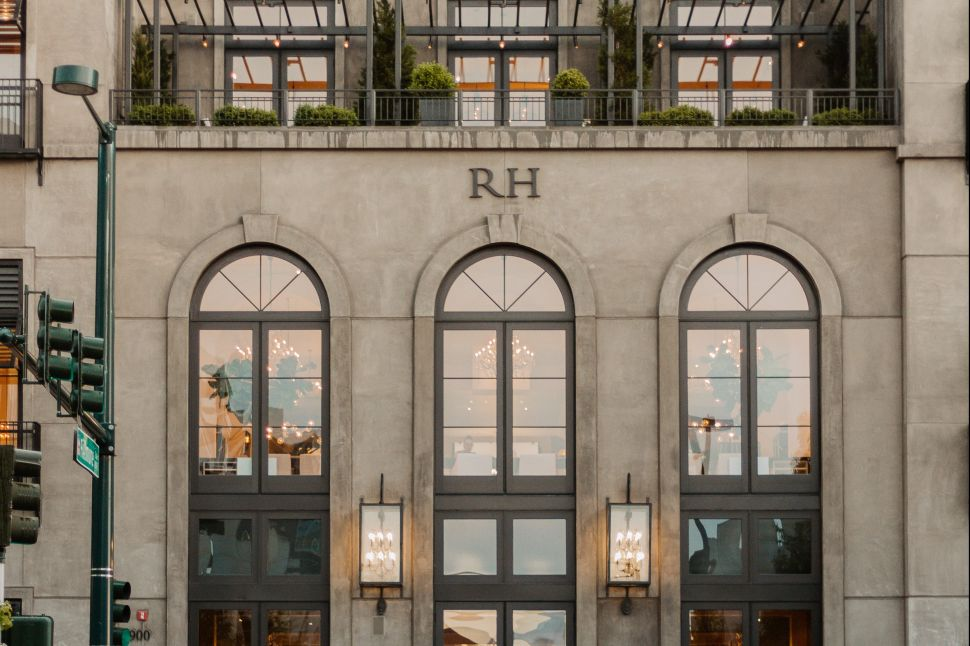RH, formerly Restoration Hardware, is best known for its lavish storefronts.
