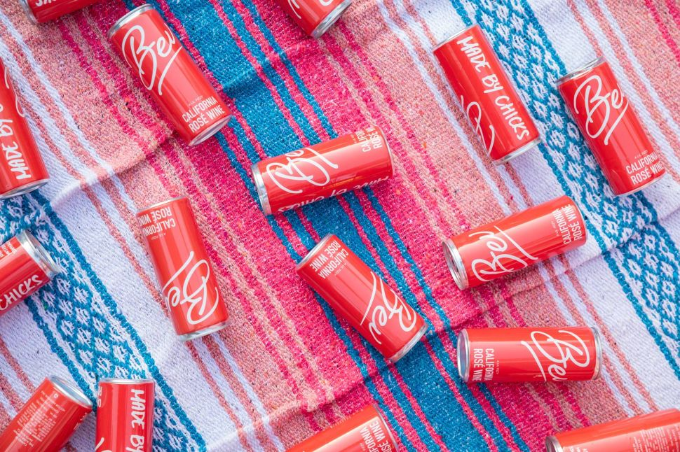 Bev's canned rosé is a poolside alternative to glass bottles.
