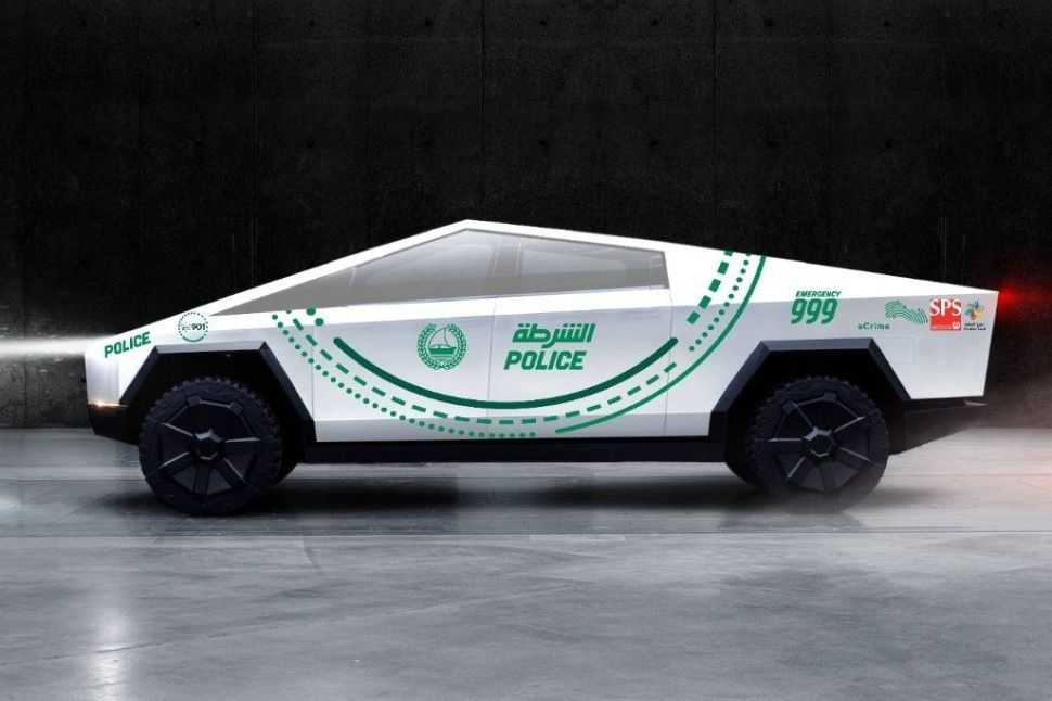 The Dubai Police Force plans to incorporate Tesla's Cybertruck into its supercar fleet as soon as 2020.