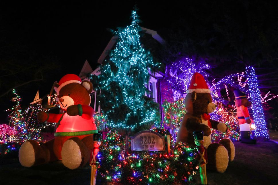 The Dyker Heights neighborhood has become the most popular area for Christmas lights viewing.