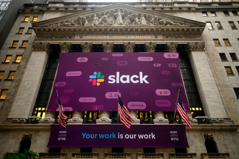 "Shares of Slack Technologies began trading on the NYSE on June 20 under the ticker symbol ""WORK."""