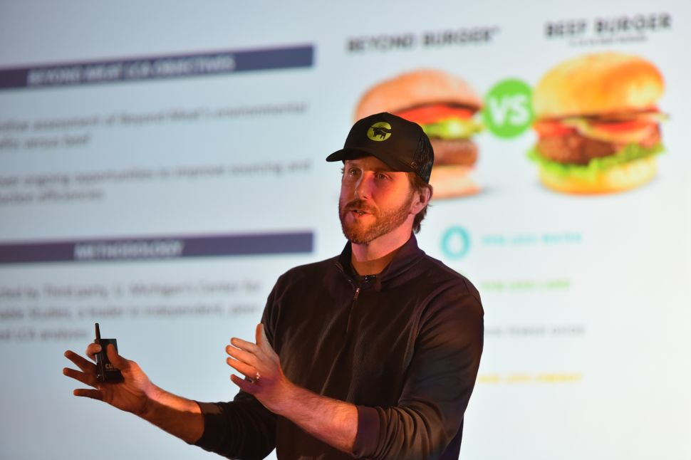 Ethan Brown, CEO of Beyond Meat, gave a hint about the company's foray into chicken in the new year.