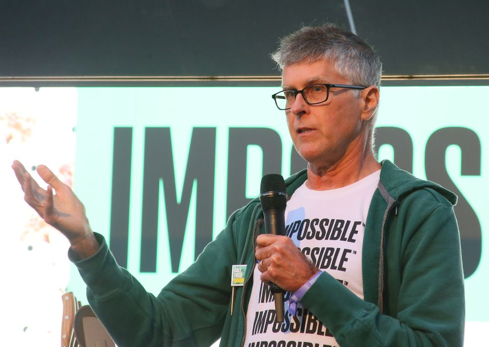 Impossible Foods CEO Patrick Brown received the 2019 United Nations Global Climate Action Award.