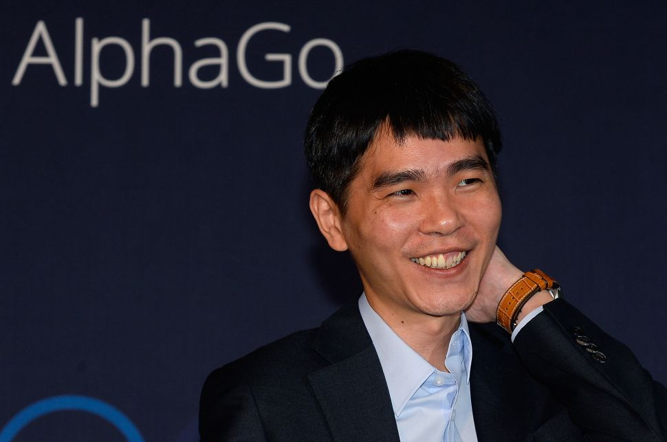 Korean Go player Lee Sedol attends the press conference after his match against Google's artificial intelligence program, AlphaGo on March 10, 2016 in Seoul, Korea.