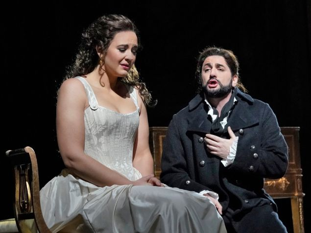 Lise Davidsen as Lisa and Yusif Eyvazov as Hermann in Tchaikovsky's 'The Queen of Spades'.