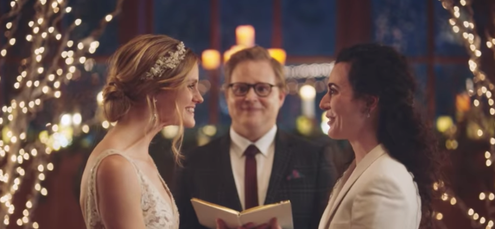 Zola.com has been touted as a progressive brand for standing by its same-sex wedding commercial.