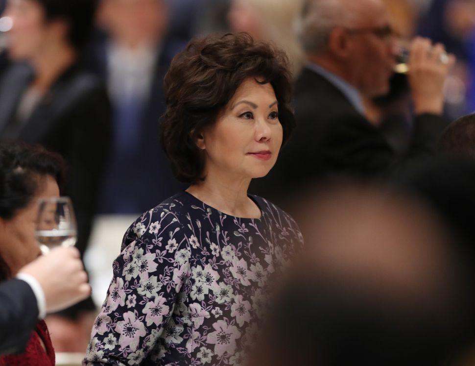 U.S. Transportation Secretary Elaine Chao.