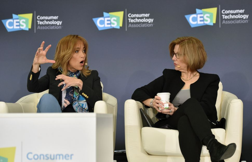 Facebook Chief Privacy Officer Erin Egan (L) and Apple Senior Director, Global Privacy Jane Horvath participate in a privacy roundtable at CES 2020.