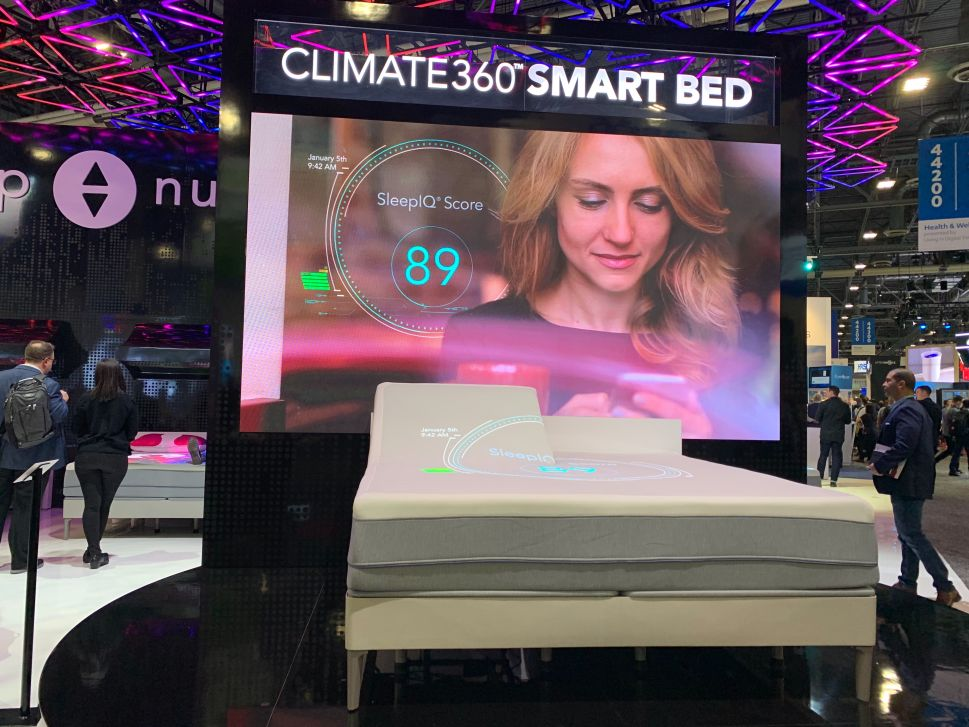 Smart bed maker Sleep Number unveils its latest smart mattress at CES 2020.