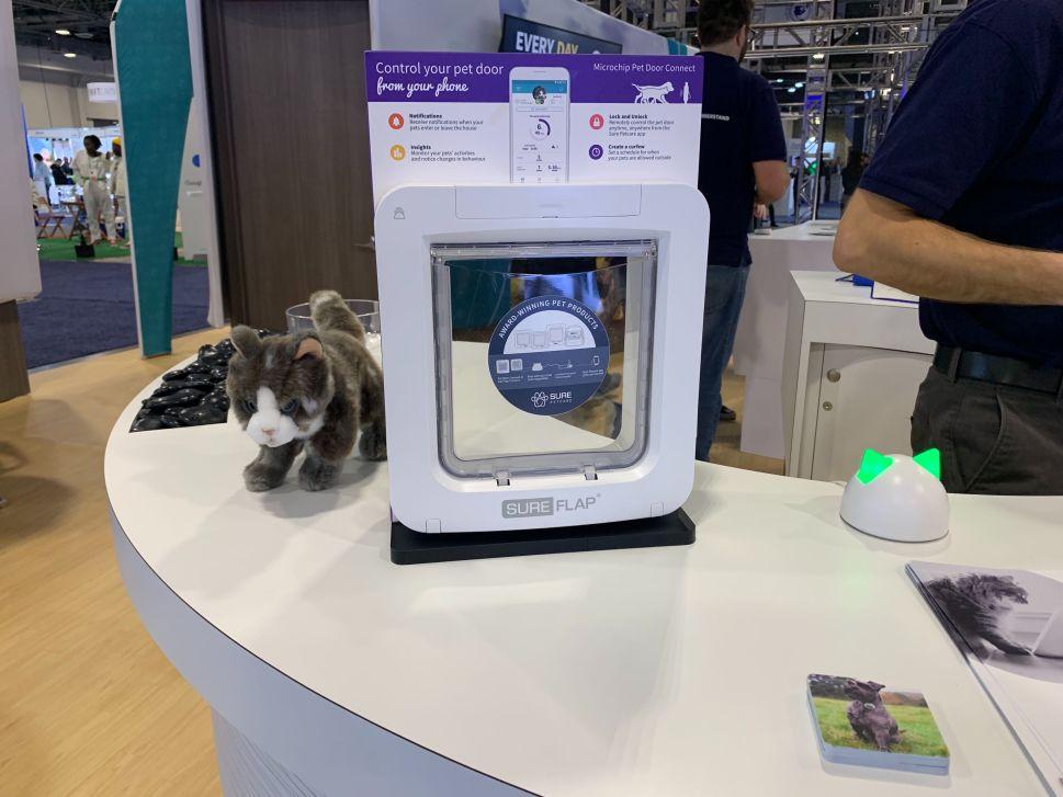 SureFlap pet door at CES 2020.