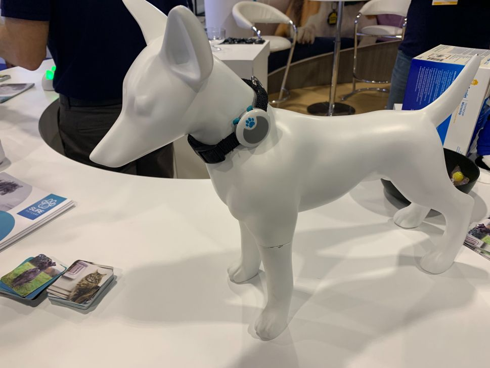 The Animo pet behavior tracker by Sure Petcare at CES 2020.