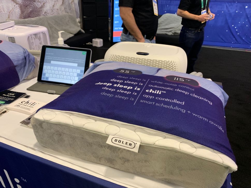 ChiliPAD's smart mattress pad at CES 2020.