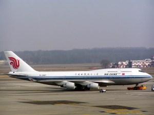 airchinaairplane Air China Lands at Empire State Building