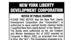 liberty development scan1 0 Silverstein Wants $2.6 B. in WTC Bonds—But for What?
