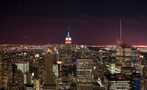 nyc night skyline Council Turns Out the Lights, Saving City from Global Warming