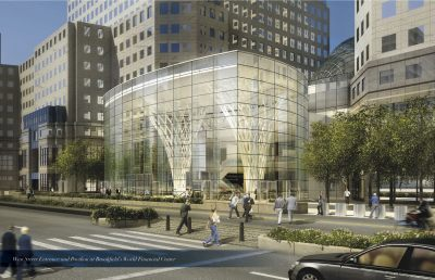 pavilion rendering Brookfield's Heart of Glass: Developer Fetes New Glass Pavilion at World Financial Center