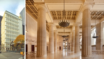 195broadway bldg lobby1 Omnicom grows in 195 Broadway, now at 260,000 square feet