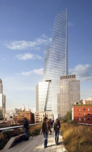 A rendering of the South Tower at Hudson Yards