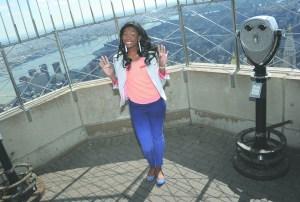 Coco Jones, on top of the world.