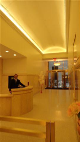 Renovated lobby at 50 Broad Street