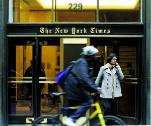 Former AIG Head Reportedly Considering New York Times Takeover