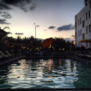The pool scene at Freehand Miami