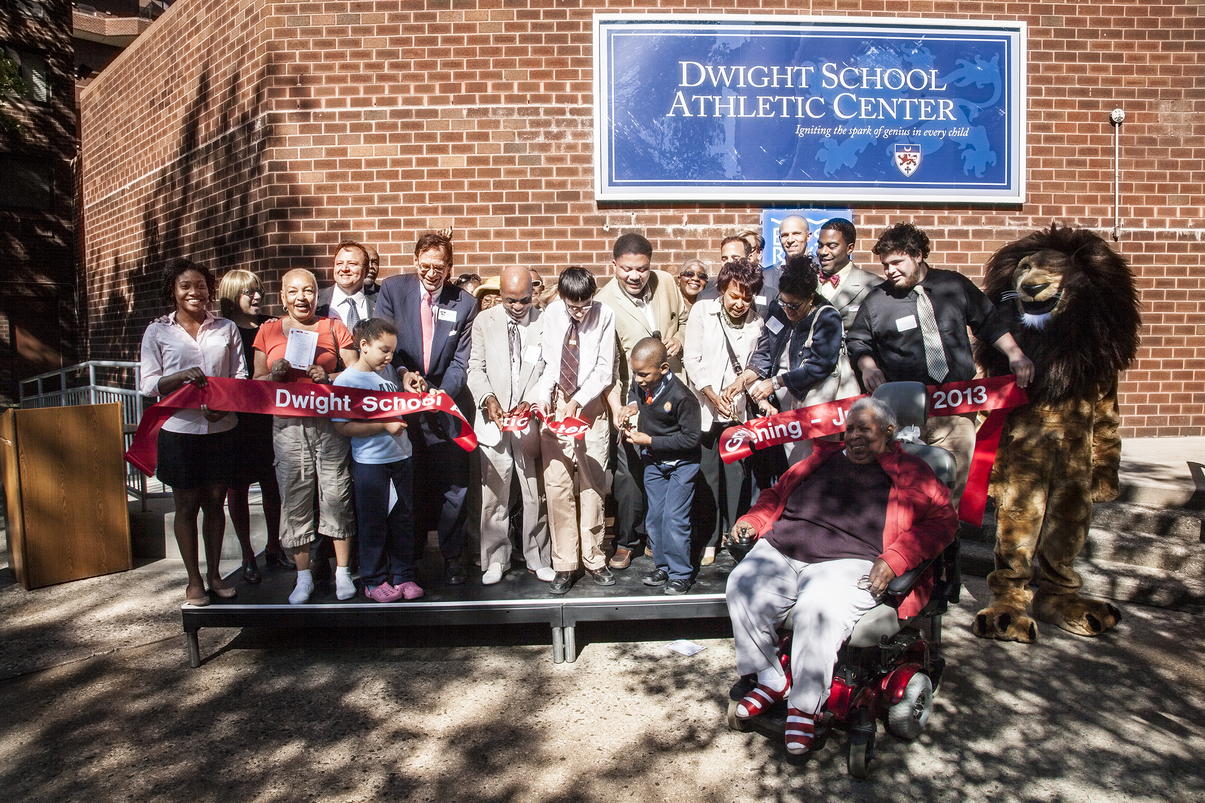 Opening Ceremony at New Dwight Athletic Center