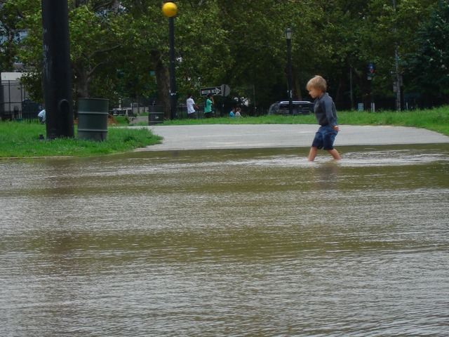 A flooded McCarren Park (Credit: www.heresgreenpoint.com)