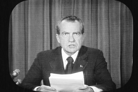 nixon resigns 573x382 The Watergate Break In: 41 Years Later