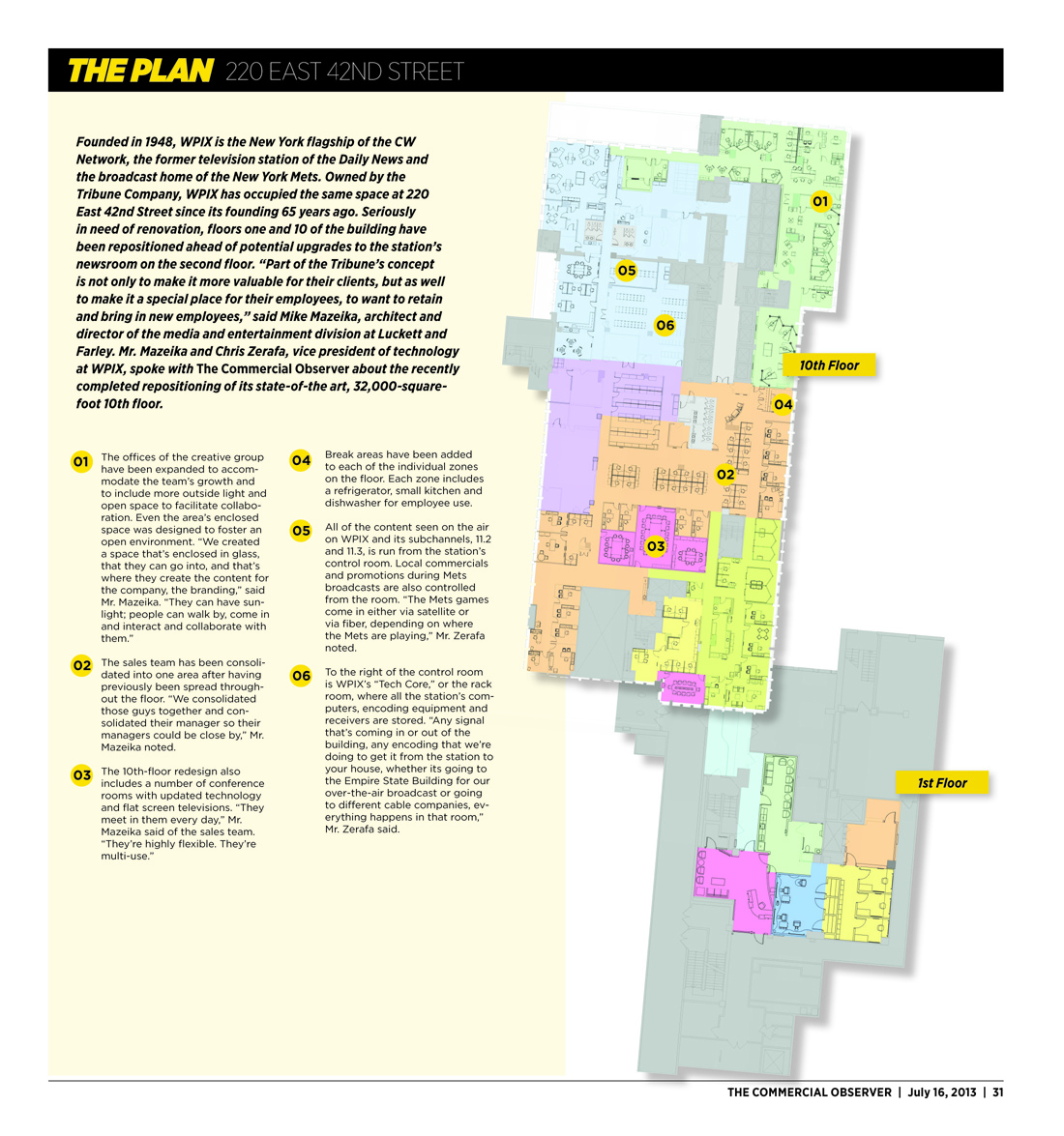 plan The Modernization of the WPIX Building