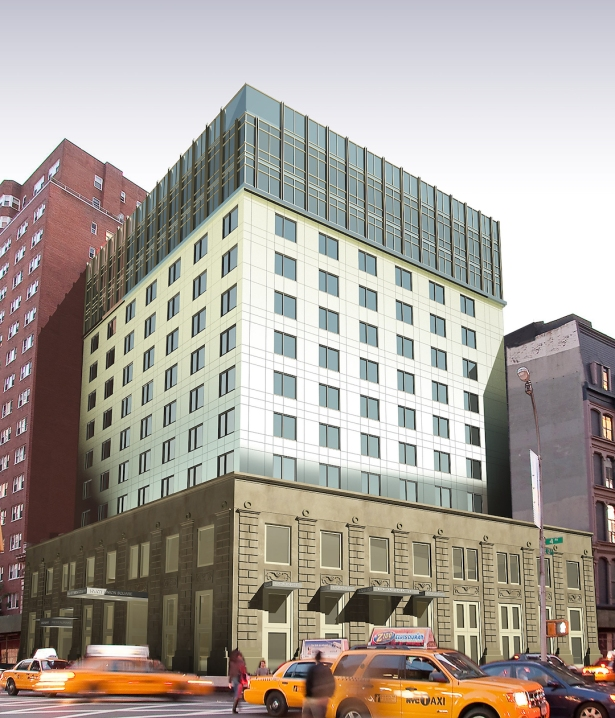 Hyatt Union Square rendering.