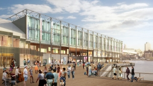 A rendering of the shops at Pier17