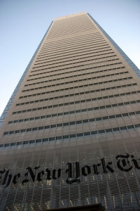new york times building New York Times Leasing Floor As Part of Restacking Effort