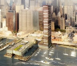 Renderings of the new South Street Seaport