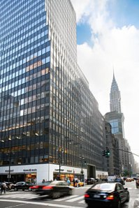 485 Lexington, one of the buildings that will benefit from SL Green's latest round of LED retrofits (Photo: SL Green)