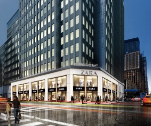 Rendering of the south view of 222 Broadway, soon-to-be home to Zara