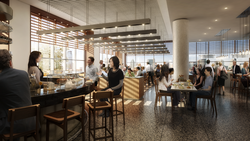 A rendering of Hudson Eats at Brookfield Place