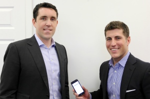 View the Space's Andrew Flint (left), the head of business development, and Ryan Masiello, the chief revenue officer with the new mobile app